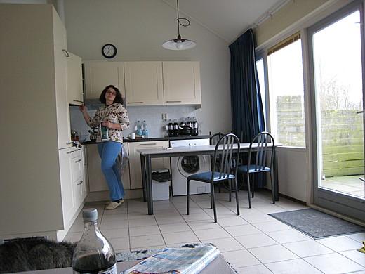 Küche vom Wohnzimmer aus